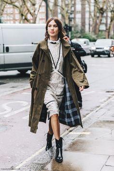 Alexa Chung at London Fashion Week