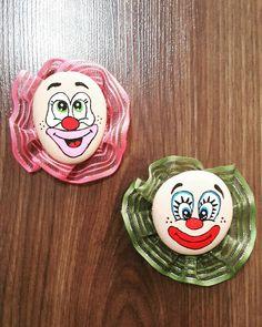 Palyaço lu nikah magneti...great painted clown faces!