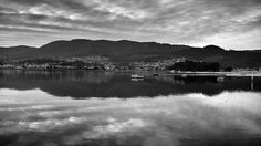 nubes, agua, reflejos, paisaje