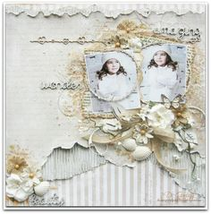 """Absolutely gorgeous layout, by Di Garliing, using MajaDesign's papers from """"Life by the Sea"""" collection.    #layout #LO #lo #scrapbooking #scrapbook #scrapping #scrap #papercraft #papercrafting #papercrafts #majadesign #majadesignpaper #majapapers #inspiration #vintage"""