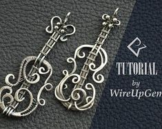 Wire wrap tutorial, Wire wrapping, violin pendant, tutorial, PDF tutorial. Wire Wrapped pendant #wirejewelry