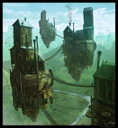 Flin's home (LEVITY) http://gencept.com/wp-content/uploads/2013/02/Outstanding-Illustrations-by-Greg-Fromenteau_03-@-GenCept.jpg