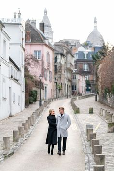 Paris Engagement Photos at Montmartre are truly unique. Again, the early bird catches the worm. Consider starting at Maison Rose where you can create your own post cards