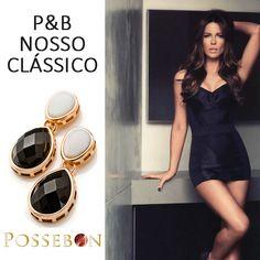 Na Adoro Presentes você encontra o mais fashion em joias. Para se sentir poderosa, use Possebon! #Brinco #moda #Possebon  #AdoroPresentes #Clássico #Mulheres #Joias #fashion