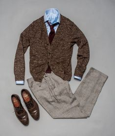 97c5ade3 Can't go wrong with a sharp, dressy cardigan and crisp trousers for fall