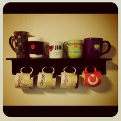 Displaying our love of coffee and our awesome mug collection!
