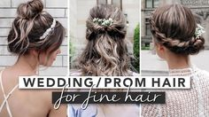 Prom or Wedding Hairstyles for Fine Hair