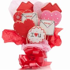 Lots of Love Cookie Bouquet $29.99