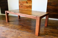 The Urban Settler - Hand Crafted Solid Wood Furniture - Dining Tables and Chairs - Custom Dining Tables - Reclaimed Wood Tables - Wide Plank...