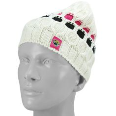Jacksonville Jaguars Ladies White Breast Cancer Awareness Cable Knit Beanie