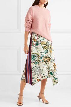 b56facacb1e Tory Burch - Marie printed silk crepe de chine midi skirt