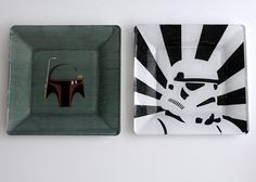 DIY Geeky Dishes - Boba Fett, Stormtrooper