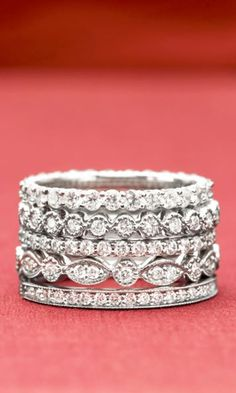 Vintage inspired styles to uniqe modern designs. Stacked beauty for your finger.