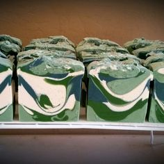 Eucalyptus Spearmint CP Soap. Just a picture, no recipe. I will have to experiment a little bit to make my own.