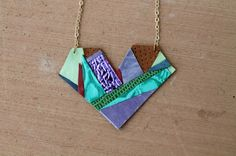 Learn how to make this geometric heart pendant in just a few steps.