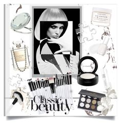 """""""Purity"""" by yishdelish ❤ liked on Polyvore featuring beauty, Temptu, Essie, Christian Dior, Chanel, Miss Selfridge, Herbivore, MAC Cosmetics and Shany"""