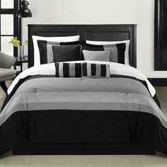 """Features:  -Set includes 1 comforter, 1 bedskirt, 2 shams, 2 filled square cushions, 1 cushion, 1 breakfast pillow, 4-piece sheet set which includes 1 flat sheet, 1 fitted sheet (fits up to 15"""" mattre"""