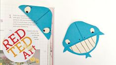 Easy Whale Bookmark Corner DIY