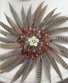 I love this Cock Pheasant Feather and Shotgun Cartridge Wreath! Feather Wreath, Feather Crafts, Feather Art, Shotgun Shell Crafts, Shotgun Shell Wreath, Shotgun Shells, Phesant Feathers, Ammo Art, Shotgun Cartridges