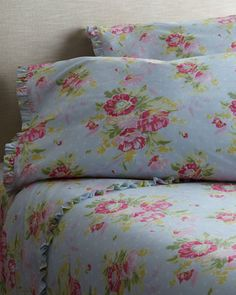 """""""Bella Blue"""" Sheets by Pine Cone Hill at Horchow."""