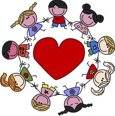 Illustration of mixed ethnic children vector art, clipart and stock vectors. Valentines Day Songs, Valentines Day Holiday, Homemade Valentines, Valentine Box, Valentine Wreath, Valentine Ideas, Valentine Crafts, Happy Children's Day, Happy Kids