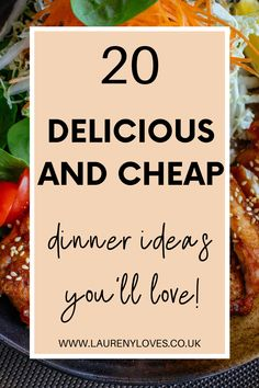 20 quick and easy dinner ideas that the whole family will love. Healthy dinner ideas that you must try tonight. Click to discover 20 family dinner ideas that are delicious and cheap. Cheap Easy Meals, Cheap Dinners, Easy Recipes, Healthy Recipes, Cooking For One, Food To Make, Dinner Ideas, Good Food, Love