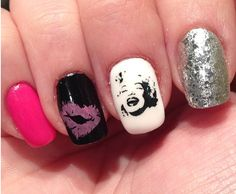 Marilyn Monroe Theme Nails