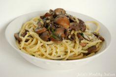 Julia's Healthy Italian Cooking: Pasta with Mushrooms