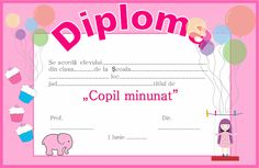 Diploma pentru 1 Iunie - Ziua Copilului Teacher Supplies, Children Images, Classroom Management, Free Printables, Clip Art, Memories, Image Kids, Migratory Birds, Frame