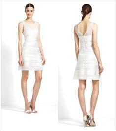 BCBG short wedding dress