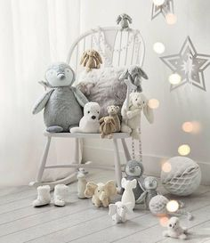 Buy Baby > Newborn > Indy Elephant with Crinkle Ears from The White Company The White Company, Ercol Rocking Chair, Rocking Chair Nursery, Baby Bedroom, Baby Boy Rooms, Girls Bedroom, Small Baby Rooms, Bedroom Ideas, Boys Room Decor