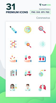 31 premium vector icons of Coronavirus designed by Aranagraphics Vector Icons, Vector Free, Health Icon, Medical Icon, Powerpoint Template Free, Flat Icons, Icon Pack, Icon Font, Infographic