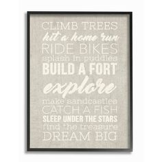 "Stupell Industries 'Climb Trees Dream Big' by Daphne Polselli Framed Textual Art Size: 20"" H x 16"" W x 2"" D"