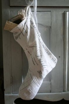 ~ Christmas stocking from Jeanne d' Arc Living