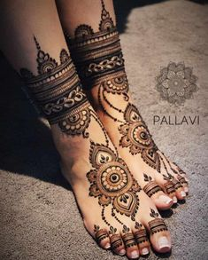 mehendi for legs for brides