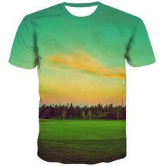 Golf T Shirts, 3d T Shirts, T Shirt Printer, City Streets, Fashion Prints, Casual, Fabric, Mens Tops, Style
