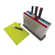 Perfect for kitchen dwellers...the Joseph Joseph - Index™ chopping boards with Knives