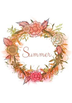 Summer wreath found on Tumblr from crazycatlady781.  Source:  delta-breezes
