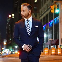 City Nights Under City Lights. No Matter Where You Live, Take Advantage And Appreciate Every Moment. Little Things Like A Walk At Night Can Make You Realize Just How Fortunate You Are To Be Wherever You Are. #christopherkorey #fashion #mensfashion #blue #gq #ootd #me #tagsforlikes #life #likeforlike #dapper #bespoke #igdaily #igers #instagood #happy #friends #family #suit #menwithclass #photooftheday #beautiful #style #instafashion #newyork #love #smile #man #night