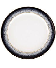 Denby Dinnerware Halo Wide Rimmed Salad Plate  sc 1 st  Pinterest & 8 Denby Langley China Mayflower dessert Plates Brown Orange Stylized ...