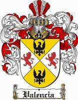 Valencia Coat of Arms / Valencia Family Crest
