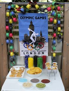 Olympic Snack Table - Olympic Party