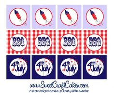 free 4th of july printables | FREE July 4th BBQ Printables from Sweet Craft Cakes | Catch My Party
