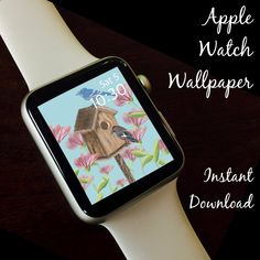 Watch Wallpaper / Apple Watch / FitBit / Smartwatch / Watch Background Best Apple Watch, Apple Watch Faces, Cool Watches, Fine Watches, Star Watch, Share Icon, Apple Watch Wallpaper, Simple Colors, Hand Lettering