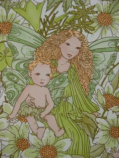 Elf and fairies wallpaper by the yard by Patternlike on Etsy, kr37.80