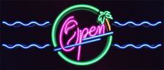 "Neon sign I did for Javiera Mena's ""Espada"". New Retro Wave, Retro Waves, Hunter Logo, 80s Neon, Neon Nights, Summer Nights, Memphis Design, Summertime Sadness, Poster Layout"