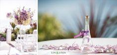 Lavender + White floral decor for wedding reception \\ Lin & Jirsa Photography