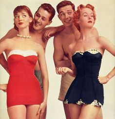 1950s Glamour Swim Suits, someone bring them back to fashion, please :)