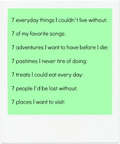 journaling prompts seven lists