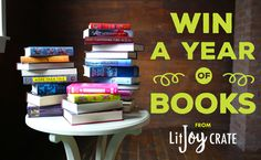 Win a YEAR OF BOOKS! LitJoy Crate is celebrating its 1st birthday by giving away a year of books! (A one-year subscription to the book crate of your choice!) Just thought you should know ;)